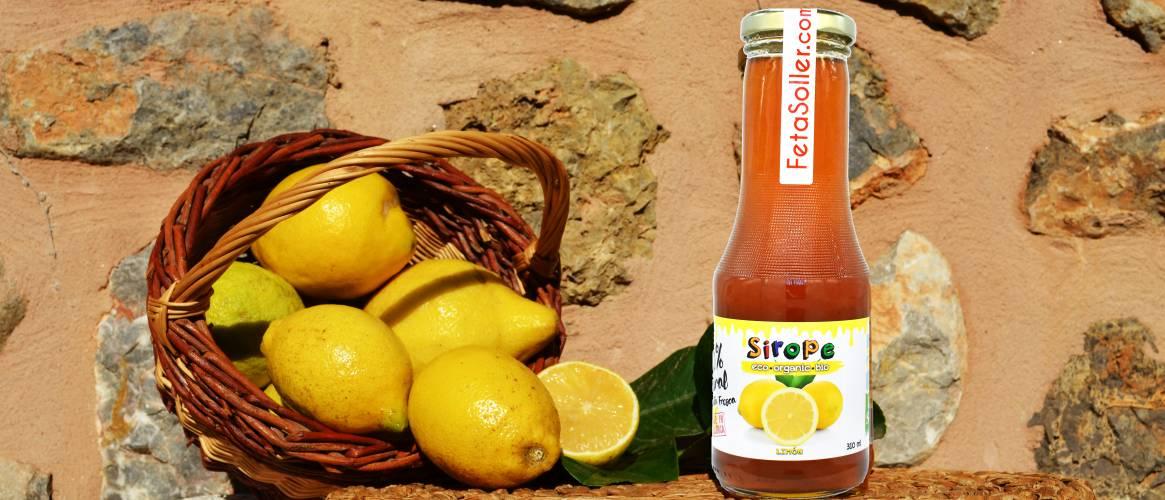 Sirope de Limón ecológico Fet a Sóller