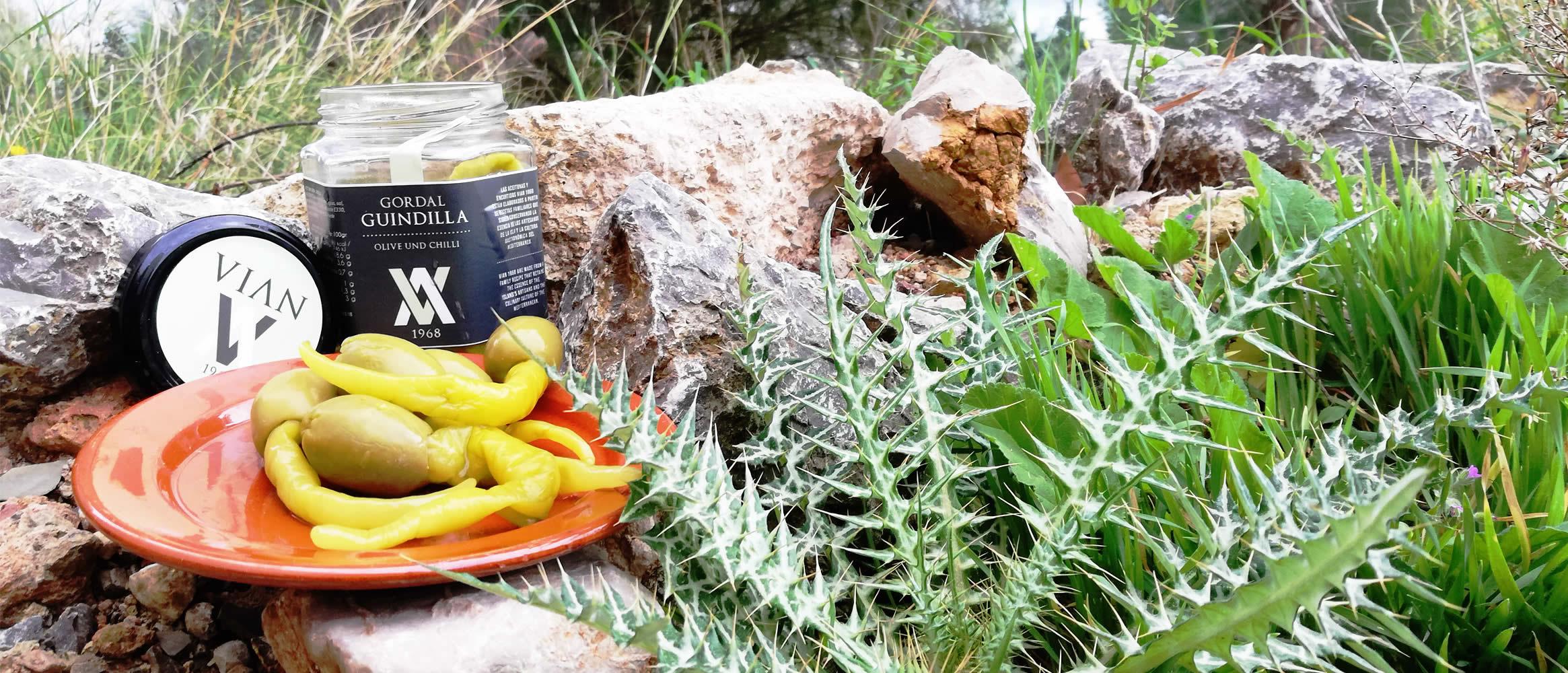 Vian Olivas con Guidillas Oliven mit Peperoni